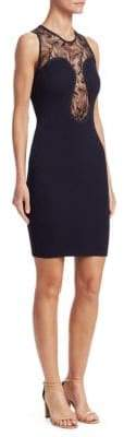 Roberto Cavalli Women's Lace Bodycon Dress - Navy - Size 40 (4)