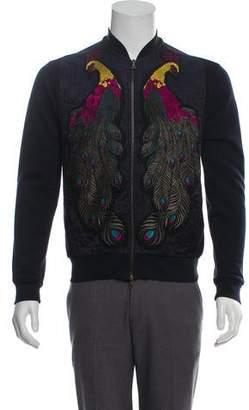 Dries Van Noten Peacock Embroidered Bomber Jacket