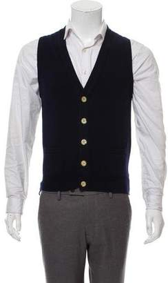 Drakes Drake's Button-Up Wool Vest