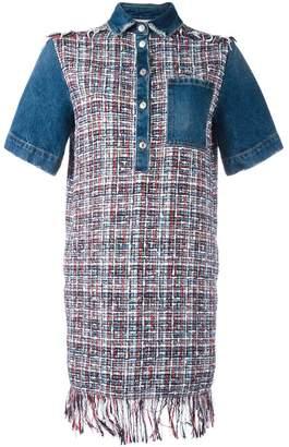 MSGM denim tweed dress