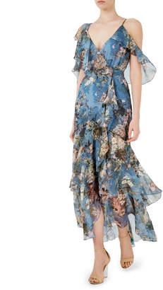 Nicholas D1409AF Arielle Floral Wrap Maxi Dress