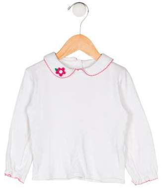 Florence Eiseman Girls' Collar Long Sleeve Top
