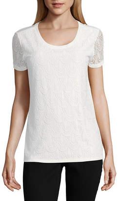 Liz Claiborne ISELA Isela Short Sleeve Lace Top