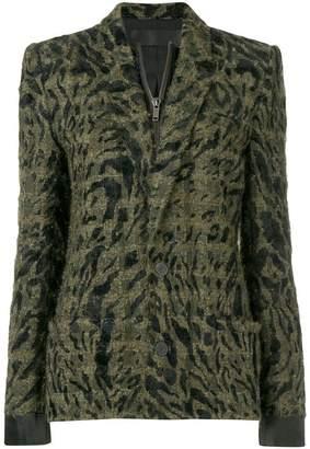 Haider Ackermann textured double layer jacket
