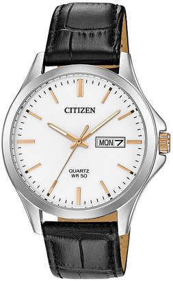 Citizen Quartz Assortment Mens Black Strap Watch-Bf2009-11a