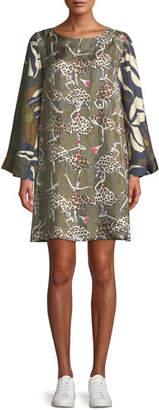 La Prestic Ouiston Madrid Ballerinas Leopard Printed Shift Dress
