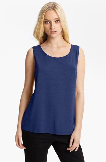 Eileen Fisher Scoop Neck Tank Sapphire Small P