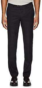 Hiltl Men's Wool Twill Flat-Front Trousers-Navy Size 42