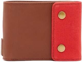 Fossil Rex Snap Billfold Leather Wallet