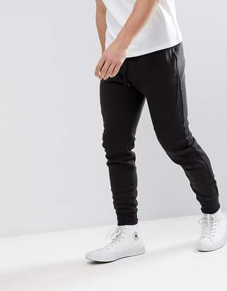 Hollister Tapered Athleisure Slim Fit Joggers In Black
