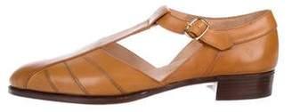 John Lobb Leather Cutout Sandals