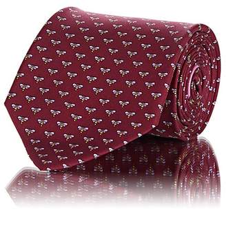 Salvatore Ferragamo Men's Bee-Print Silk Twill Necktie