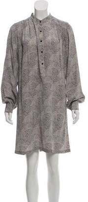 Rebecca Minkoff Silk Long-Sleeve Shirt Dress w/ Tags