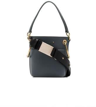 Chloé teal Roy mini leather bucket bag