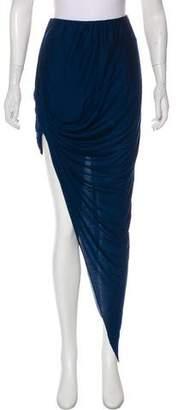 Helmut Lang Asymmetric Draped Maxi Skirt