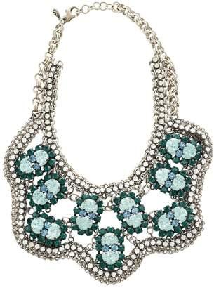 Shourouk Green Metal Necklace