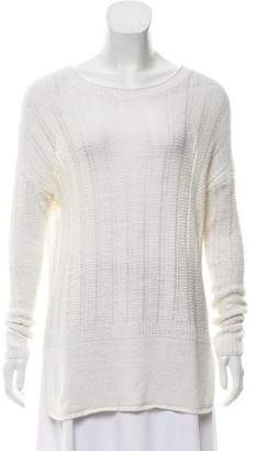 Vince Linen Long Sleeve Sweater