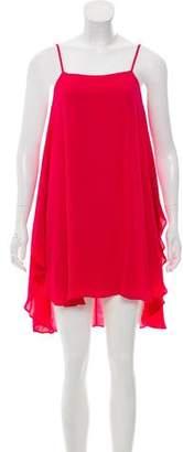 Alice + Olivia Silk Sleeveless Knee-Length Dress