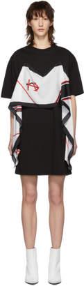MSGM Black Scarf T-Shirt Dress