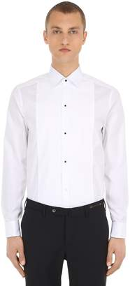 Eton COTTON PIQUE BLACK TIE SHIRT