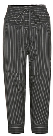 Isabel Marant Isabel Marant Shantel Striped Silk-blend Cropped Trousers