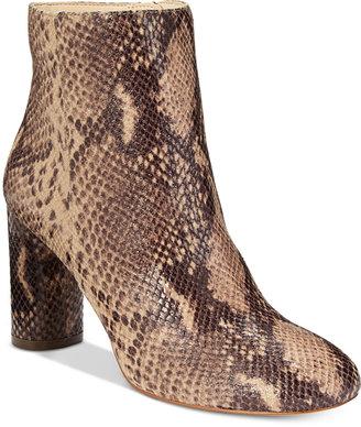 INC International Concepts Women's Taytee Block-Heel Booties, Only at Macy's $129.50 thestylecure.com