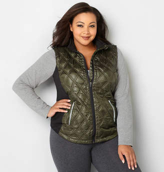 Avenue Quilted Vest with Knit Sides