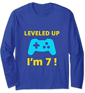 Leveled Up I'm 7 Long Sleeve T-Shirt Gamer Birthday Gift