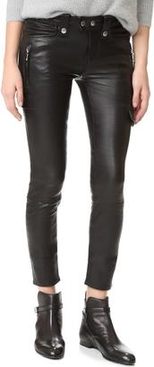 FRAME Moto Skinny Pants $1,025 thestylecure.com