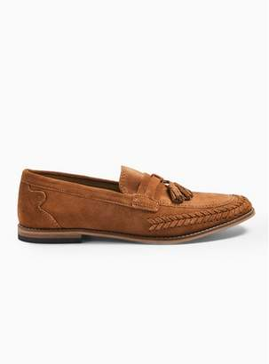 Hudson Mens Brown Tan 'Cannock' Suede Loafers