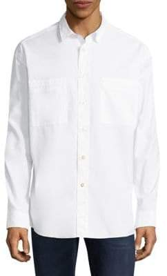 HUGO Eckart Oversized-Fit Cotton Button-Down Shirt