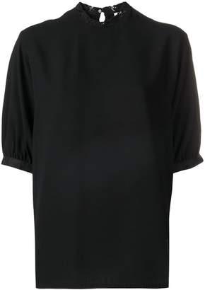 Calvin Klein lace-trimmed blouse