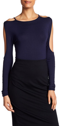 Bailey 44 Cold Shoulder Open Sleeve Shirt $136 thestylecure.com