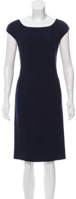 Bottega Veneta Short Sleeve Wool Dress
