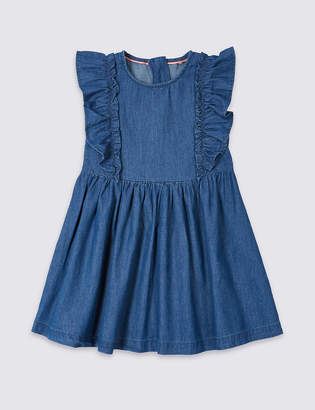 Marks and Spencer Denim Frill Dress (3 Months - 7 Years)