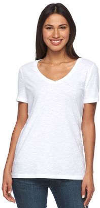 Women's SONOMA Goods for LifeTM Slubbed V-Neck Tee $16 thestylecure.com
