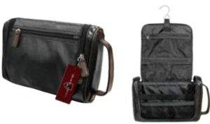 Black & Brown Black Brown Leather Travel Kit