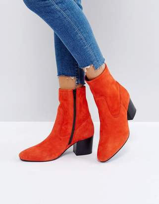 Asos Ruben Leather Ankle Boots