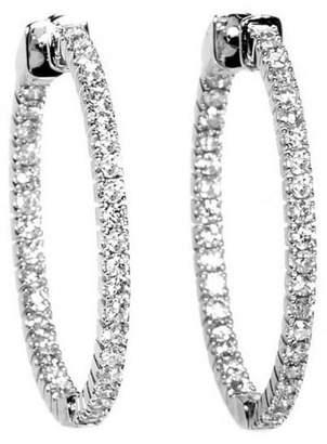 Diamond Select Cuts 14K Diamond Hoops