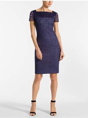 St. John Starlight Knit Short Sleeve Dress