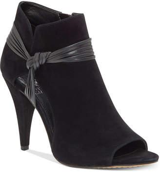 Vince Camuto Annavay Peep-Toe Booties Women Shoes