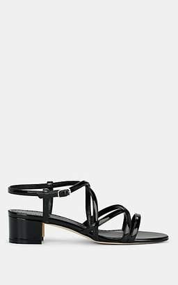 Manolo Blahnik Women's Atrita Suede Sandals - Black Patent