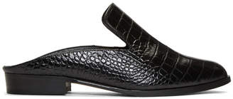 CLERGERIE Black Croc-Embossed Alice Slip-On Loafers