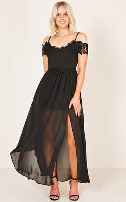 Showpo Run The Night Dress in black