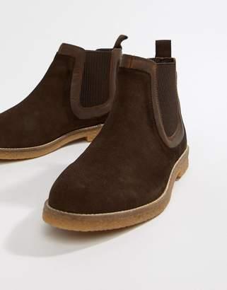 9bdf71940 Silver Street Faux Crepe Chelsea Boot in Brown