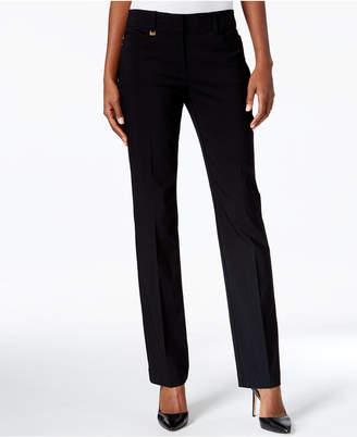 JM Collection Tummy-Control Straight-Leg Pants, Only at Macy's $49.50 thestylecure.com