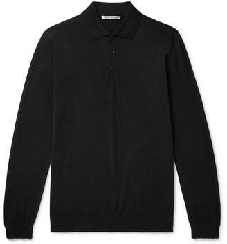 Privee SALLE Slim-Fit Cashmere Polo Shirt