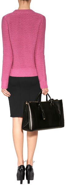 Jil Sander Cashmere Chunky Knit Pullover in Pink