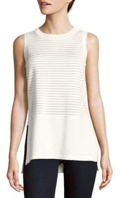 Lafayette 148 New York Striped Sleeveless Top
