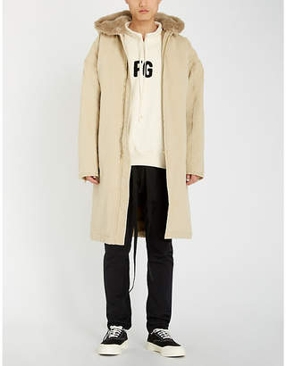 Fear Of God Sixth Collection hooded denim and faux-fur coat